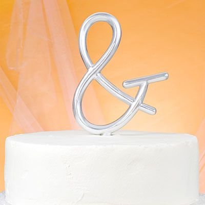 Monogram Symbol Wedding Cake Topper