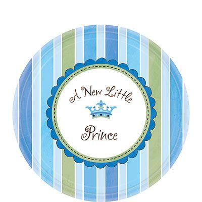 Little Prince Baby Shower Dessert Plates 8ct