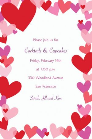 Custom Hearts Valentine's Day Invitations