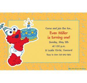 Custom Elmo First Birthday Invitations