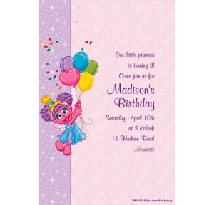 Custom Abby Cadabby Birthday Invitations
