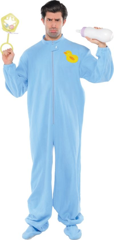 Adult Blue Footie Pajamas Costume