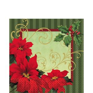 Vintage Poinsettia Lunch Napkins 36ct