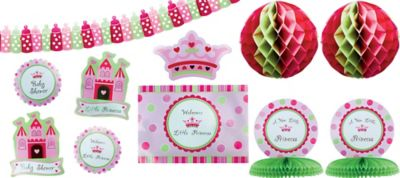 Little Princess Baby Shower Decorating Kit 10pc