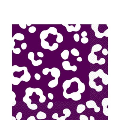 Plum Cheetah Print Lunch Napkins 36ct