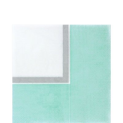 Turquoise Border Lunch Napkins 36ct