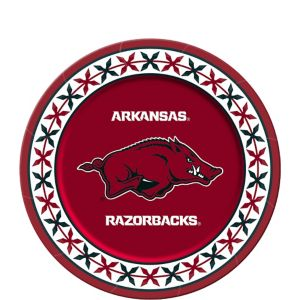 Arkansas Razorbacks Dessert Plates 8ct