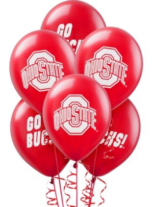 Ohio State Buckeyes Balloons 10ct Party City