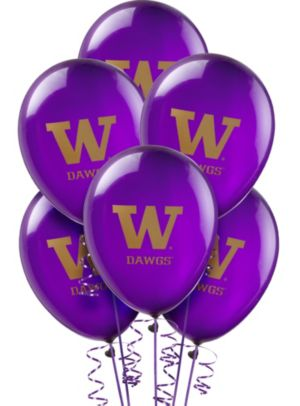 Washington Huskies Balloons 10ct