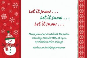 Custom Very Merry Snowman Invitations