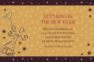 Custom Midnight Toast New Year's Invitations