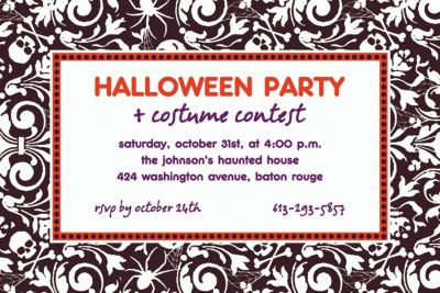 Custom Shocktails Halloween Invitations