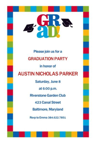 Bravo Grad Custom Graduation Invitation