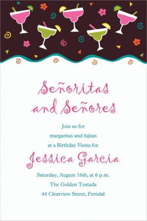 Custom Margarita Fiesta Invitations