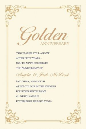 Custom Flourish Corners Gold Invitations