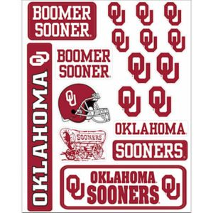Oklahoma Sooners Decals 18ct