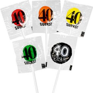 40 Sucks Birthday Lollipops 5ct