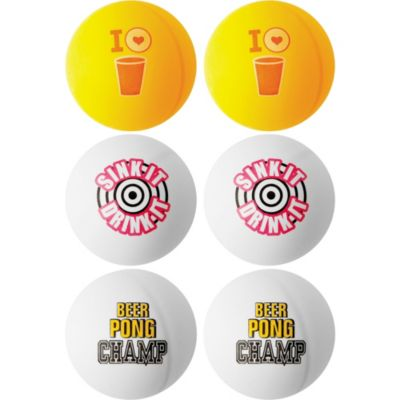 Birthday Beer Pong Balls 6pc