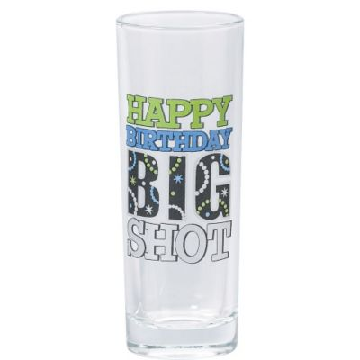 Happy Birthday Big Shot Glass 3oz