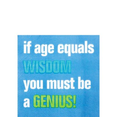 Age Equals Wisdom Beverage Napkins 16ct