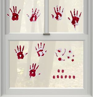 Skeleton Hand Prints Wall Grabbers 9pc