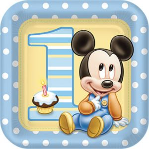 Baby Mickey Mouse Lunch Plates 8ct