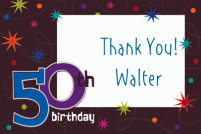 Custom The Party Continues 50th Birthday Thank You Notes