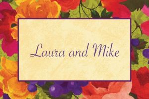 Custom Bright Blooms Thank You Notes