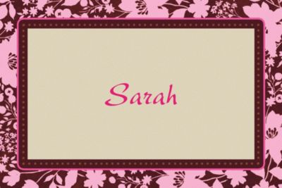 Custom Cocoa Floral Pink Thank You Notes