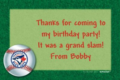 Toronto Blue Jays Custom Thank You Note