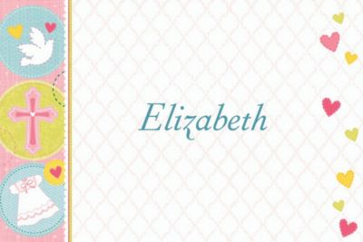Custom Sweet Christening Girl Thank You Notes
