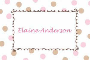 Custom Pink Dots Border Baby Shower Thank You Notes