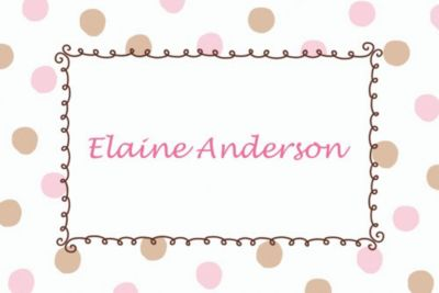 Pink Dots Border Custom Baby Shower Thank You Note