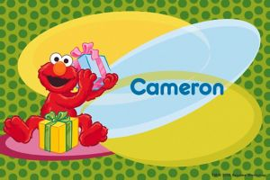 Custom Elmo Birthday Thank You Notes