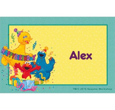 Sesame Street Birthday Custom Thank You Note