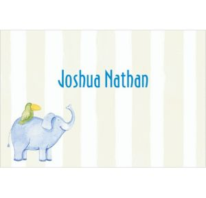 Custom Jungle Animals Stripe Baby Shower Thank You Notes