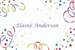 Custom Confetti & Streamers Thank You Notes