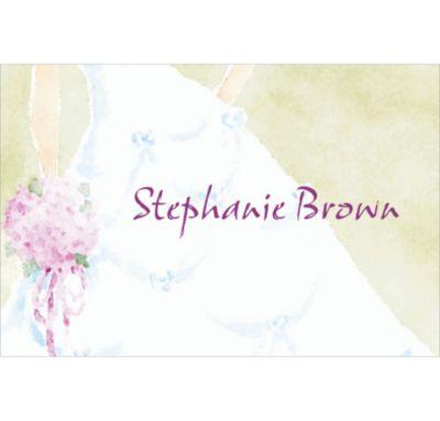 Custom Soft Fashion Gown Wedding Thank You Notes