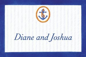 Custom Anchor & Stripes Thank You Notes