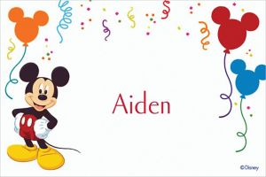 Custom Mickey Mouse Party Thank You Notes