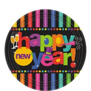 Bright New Year Dessert Plates 60ct