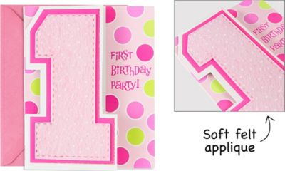 One Today Girl Large Invitations 8ct