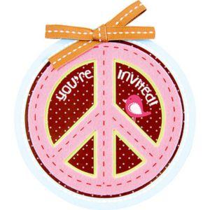 Peace & Love Large Invitations 8ct