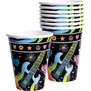 Neon Birthday Cups 8ct