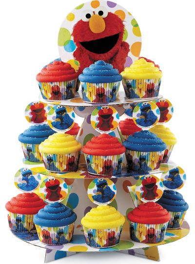 Elmo Cupcake Stand Holds 24