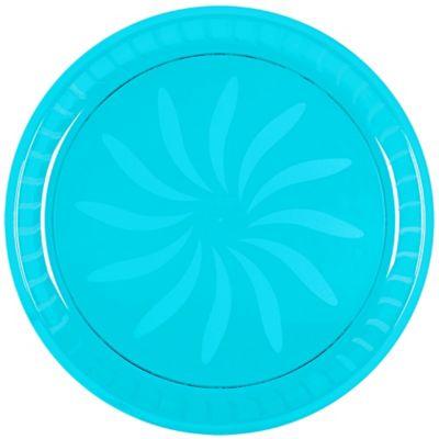 Caribbean Blue Plastic Swirl Platter