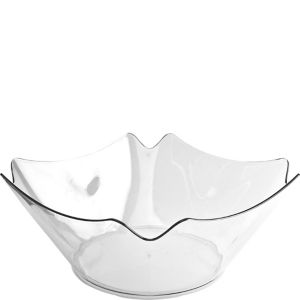 CLEAR Plastic Flower Bowl