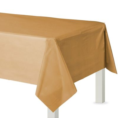 Gold Plastic Table Cover 54in X 108in Party City