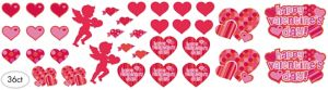 Valentine's Day Cutouts 36ct