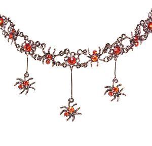 Red Gothic Spider Necklace